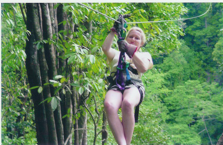 Sheevaun zip-lining with no risk aversion